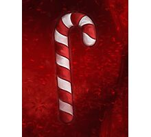 A Candy Cane For Christmas Photographic Print