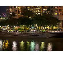 Building to one side of Clarke Quay along with reflection in water Photographic Print