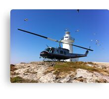 South Solitary Island - Huey Helicopter Canvas Print