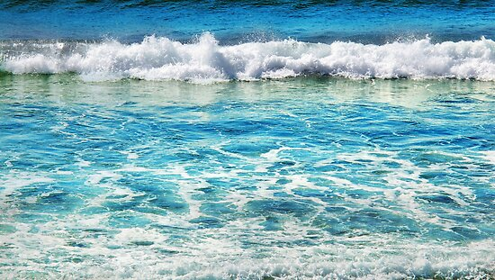 Sapphire Surf by © Karin  Taylor