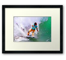 Julian Wilson Winner-US Open of Surfing 2012 Framed Print