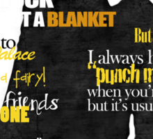 Sherlock and John quotes (Yellow font) Sticker