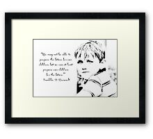 Children are the future - Inspirational Greeting card or print Framed Print