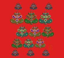 """Scandinavian Christmas Trees""© Womens Fitted T-Shirt"