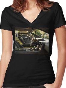Delorean dream.... Women's Fitted V-Neck T-Shirt