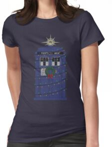Police Box Christmas Knit Womens Fitted T-Shirt