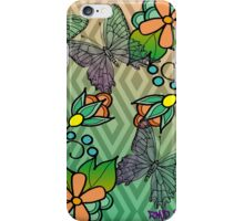 Modern Ojibwe floral and butterflys iPhone Case/Skin