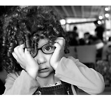 Child Portrait Human Girl Eyes Contact Photographic Print