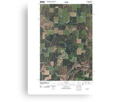 USGS Topo Map Washington State WA Plaza 20110401 TM Canvas Print