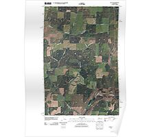 USGS Topo Map Washington State WA Plaza 20110401 TM Poster