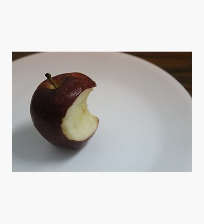Unfinished apple Photographic Print