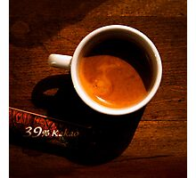 Espresso Square Photographic Print