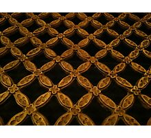Gold grate Photographic Print