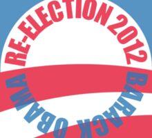 OBAMA RE-ELECTION 2012 (for light color shirts) Sticker