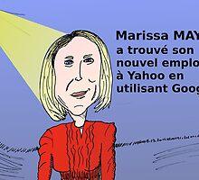 Caricature de Marissa MAYER PDG de Yahoo! by Binary-Options