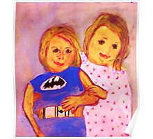 Granpa's Darlin's, watercolor Poster
