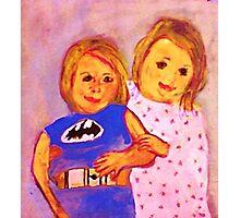 Granpa's Darlin's, watercolor Photographic Print