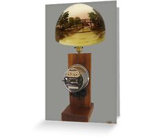 ❀◕‿◕❀ MY Antique Westinghouse OB Electric Watthour Meter Lamp ❀◕‿◕❀ Greeting Card