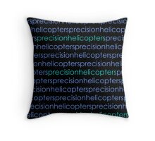 Precision Helicopters Throw Pillow