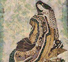 Japanes Woman in Rich Kimono by hdamm