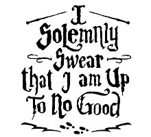 I Solemnly Swear  - Harry Potter Quotes Photographic Print