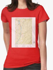 USGS Topo Map Washington State WA Boundary Dam 240168 1967 24000 Womens Fitted T-Shirt