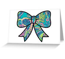 Lilly Pulitzer Inspired Bow Private Island Greeting Card