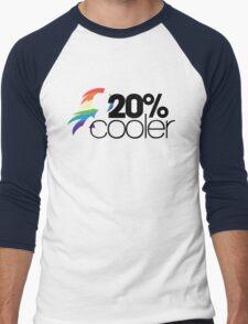 20% Cooler! (ALL options) - WHITE Men's Baseball ¾ T-Shirt
