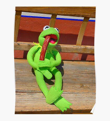 Eat Hunger Vespers Frog Kermit Poster
