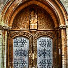 St Marys Church West Porch Door by Vicki Field