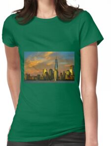 Sunset from Liberty Park Womens Fitted T-Shirt
