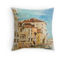 Grand Canal (Watercolour) Throw Pillow