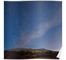Starry night on Mt. Etna Poster