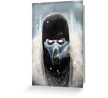 Sub Zero Greeting Card