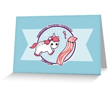 Unicorn Bacon Pounce Greeting Card