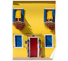 Burano, Venice lagoon - the yellow house Poster