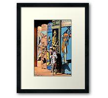 Buffalo Bill on the Bookshelf Framed Print