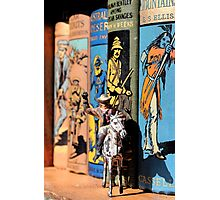 Buffalo Bill on the Bookshelf Photographic Print