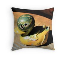 Old Toy Duck in a Tin Bath Throw Pillow