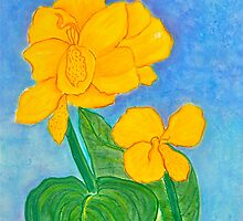 Yellow Canna Flower by Christine Chase Cooper