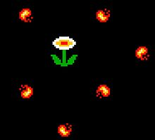 NES 8-bit Fire Flower by retropopsugar