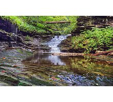 Waterfall Reflected Photographic Print