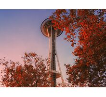 Space Needle In Fall Photographic Print