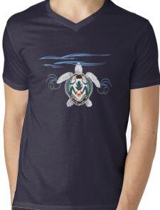 Tribal Turtle Mens V-Neck T-Shirt