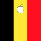 Belgium flag iPhone case by mattiaterrando