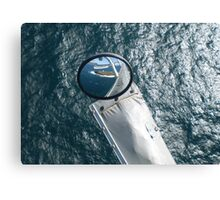 Helicopter Mirror Reflection Canvas Print