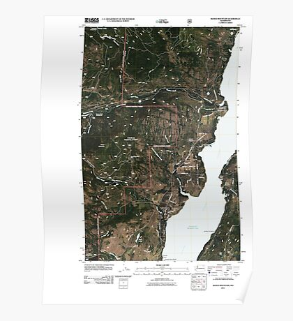USGS Topo Map Washington State WA Bangs Mountain 20110505 TM Poster