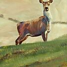 Deer Painting by MikeJory