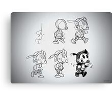 Cartoon Character Step by Step Canvas Print