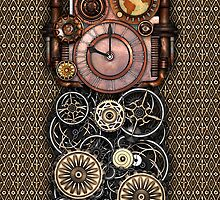 Infernal Steampunk Timepiece #2 iPhone Case by Steve Crompton